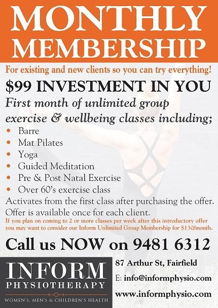 Inform Monthly Membership Flyer